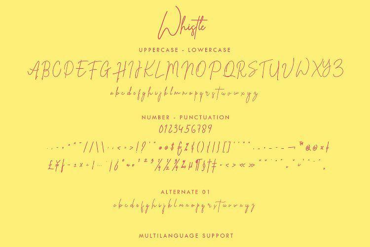 Whistle Signature Font-3