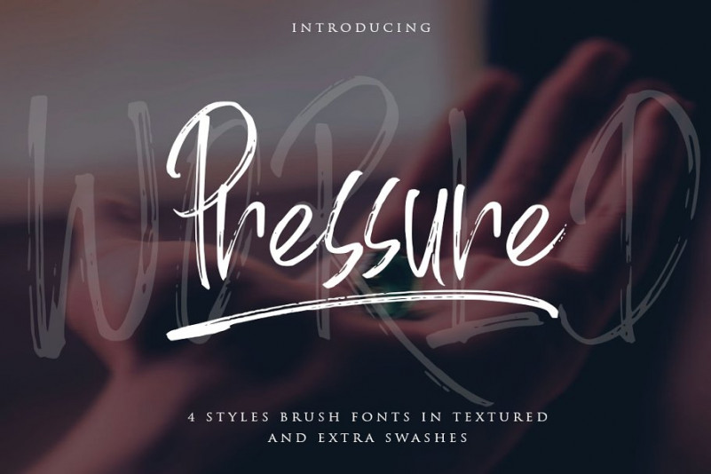 World Pressure Brush Font-1