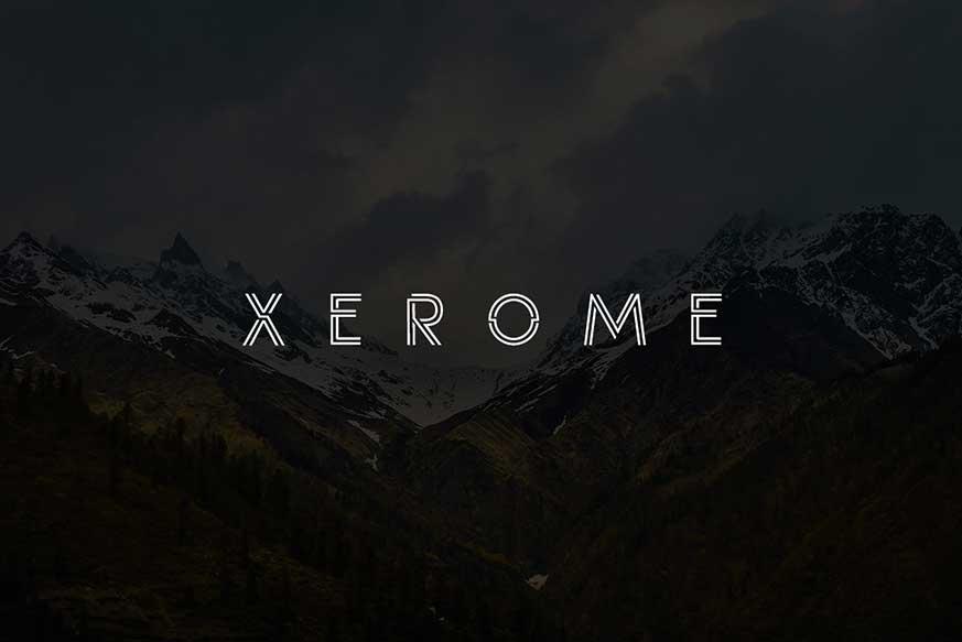 Xerome Display Typeface-1
