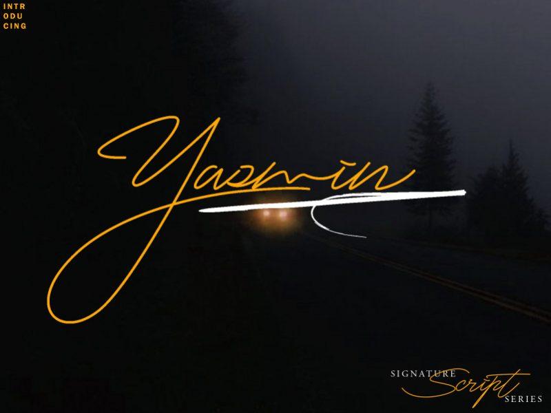 Yasmin Free Script Font-1