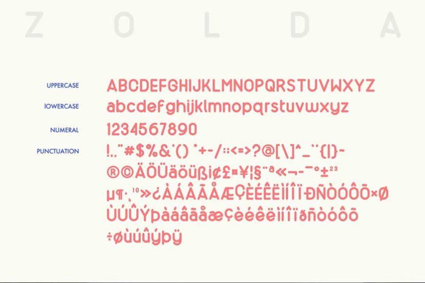 Zolda Script Sans Font Family-3
