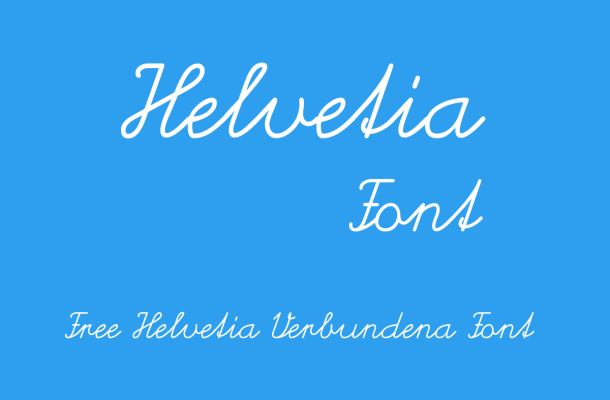 Helvetia Script Font