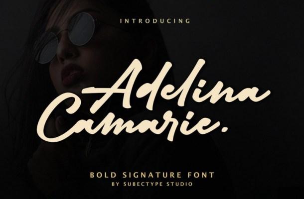 Adelina Camarie Signature Font