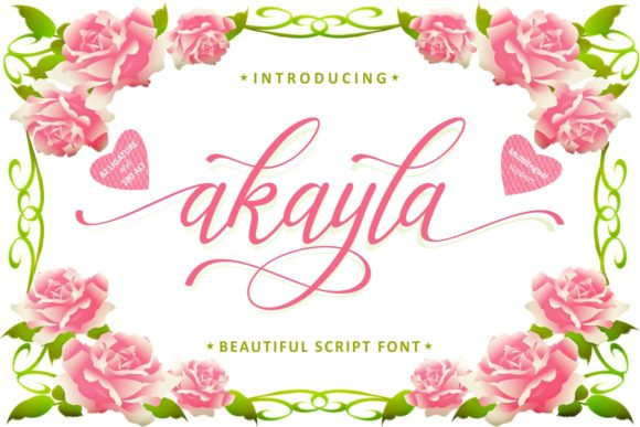 Akayla Script Font-1