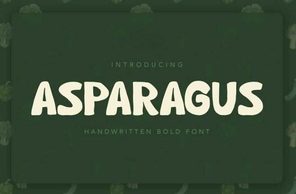 Asparagus Handwritten Font