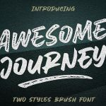 Awesome Journey Brush Font