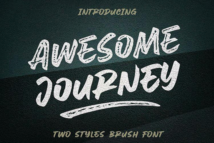 Awesome Journey Brush Font-1