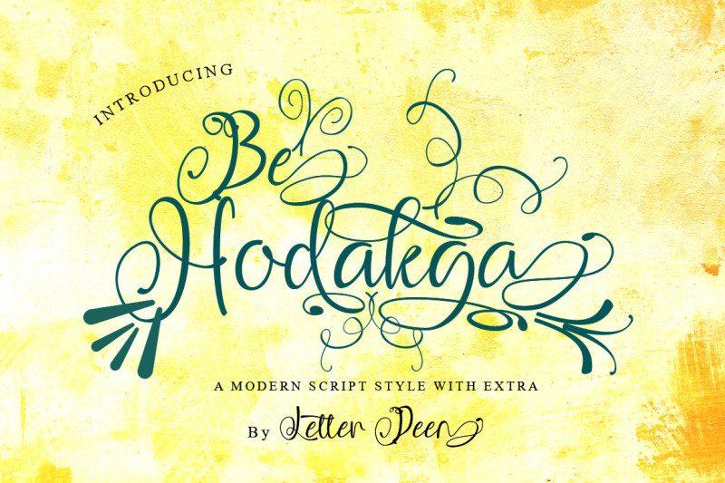 Be Hodakga Modern Script Font-1