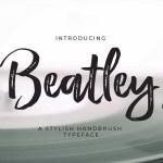 Beatley Stylish Hand Brush Font