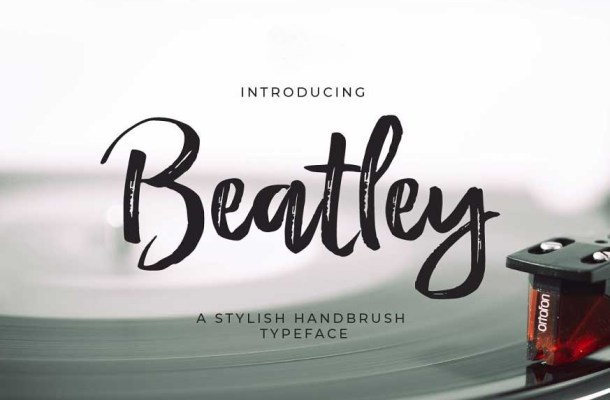 Beatley Stylish Hand Brush Font