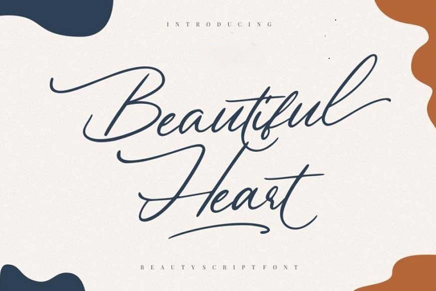 Beautiful-Heart-Script-Font