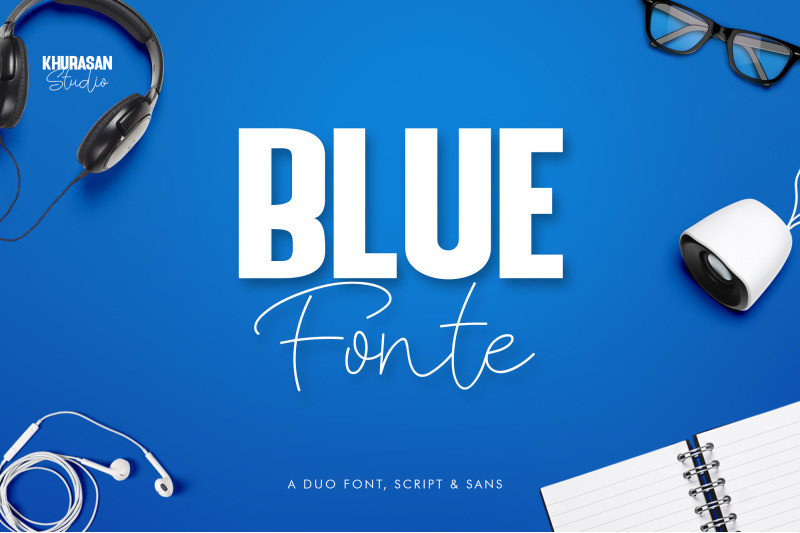 Blue Fonte Font Duo-1