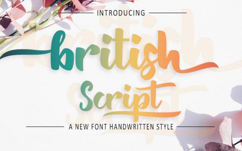British Script Font-1