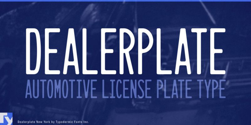 Dealerplate Font Family-1