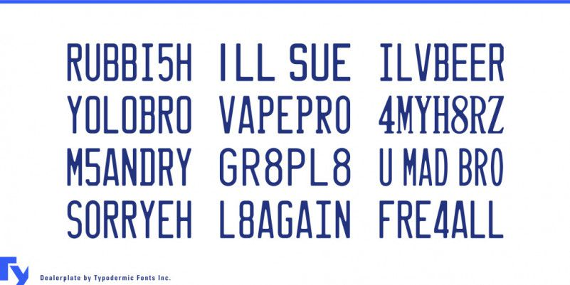 Dealerplate Font Family-2
