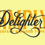 Delighter Calligraphy Font
