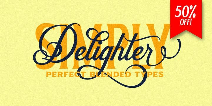 Delighter Calligraphy Font-1