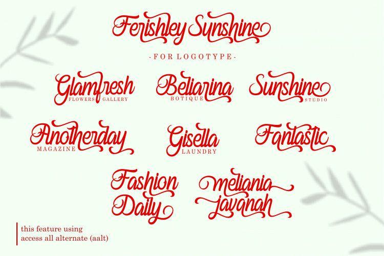 Ferishley Sunshine Script Font-2