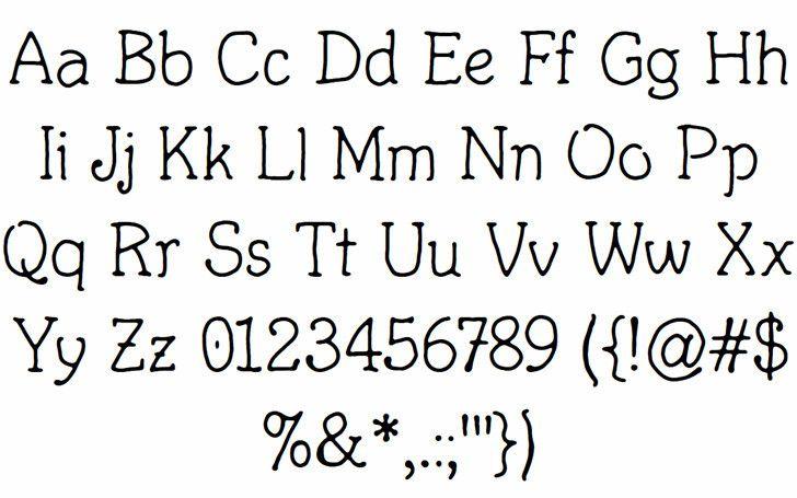 Fortuitous Mouse Font-2