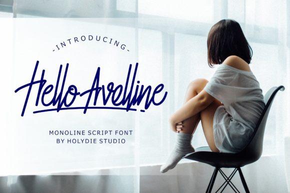 Hello Avelline Handwritten Font