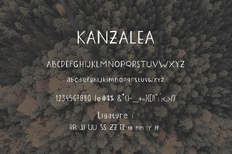 KANZALEA Handwritten Font-3