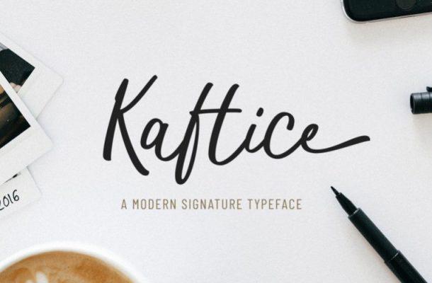 Kaftice handwritten Font