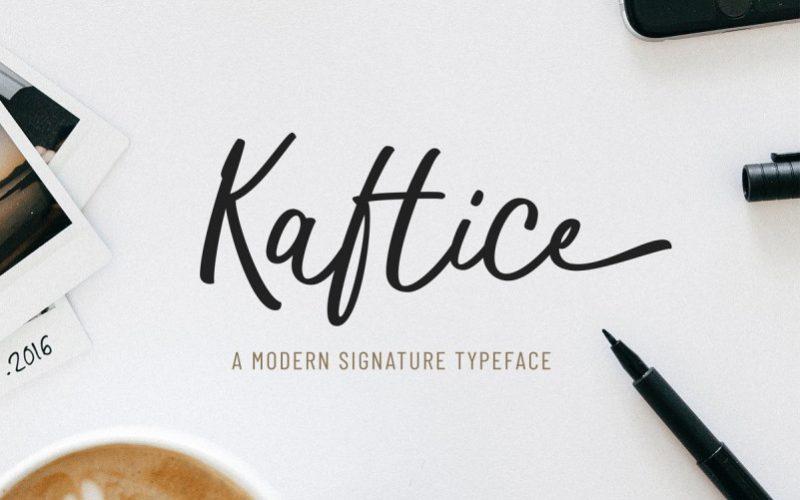 Kaftice handwritten Font-1