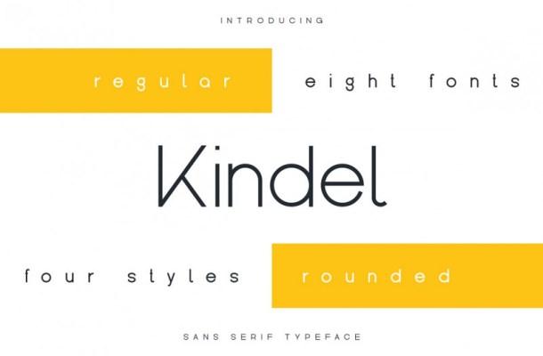 Kindel Sans Serif Font