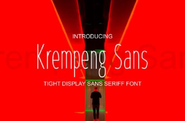 Krempeng Sans Font