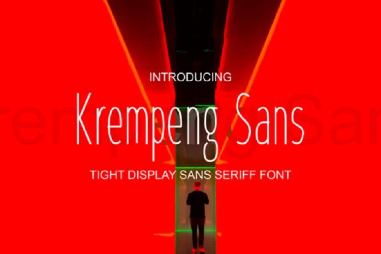 Krempeng Sans Font-1