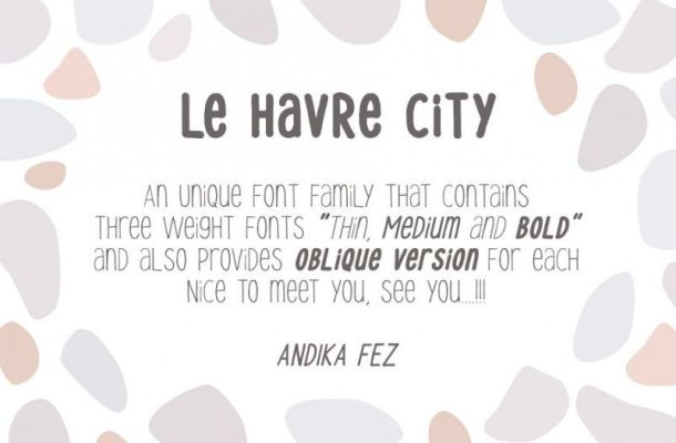 Le Havre City Font Family