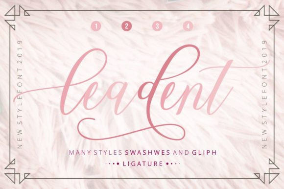 Leadent Calligraphy Font