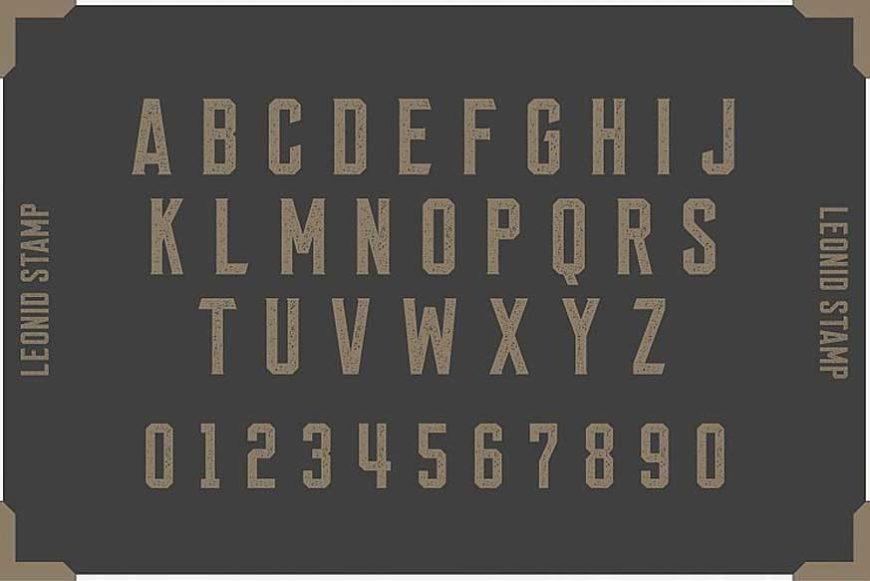 Leonid Retro Layered Font Pack-4