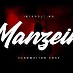 Manzein Script Font
