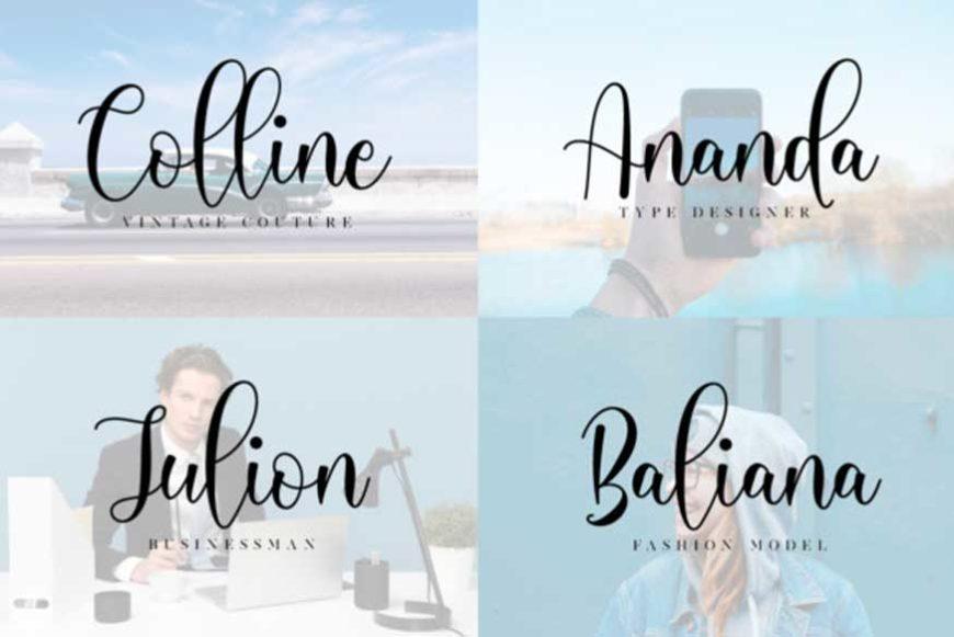 Michalina Script Font-2