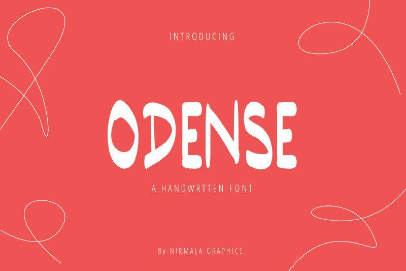 Odense Handwritten Font-1