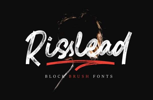 Risslead Block Brush Font