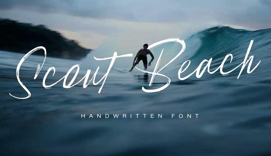 Scout Beach – Handwritten Brush Font