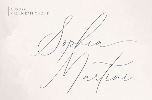 Sophia Martini Handwritten Font