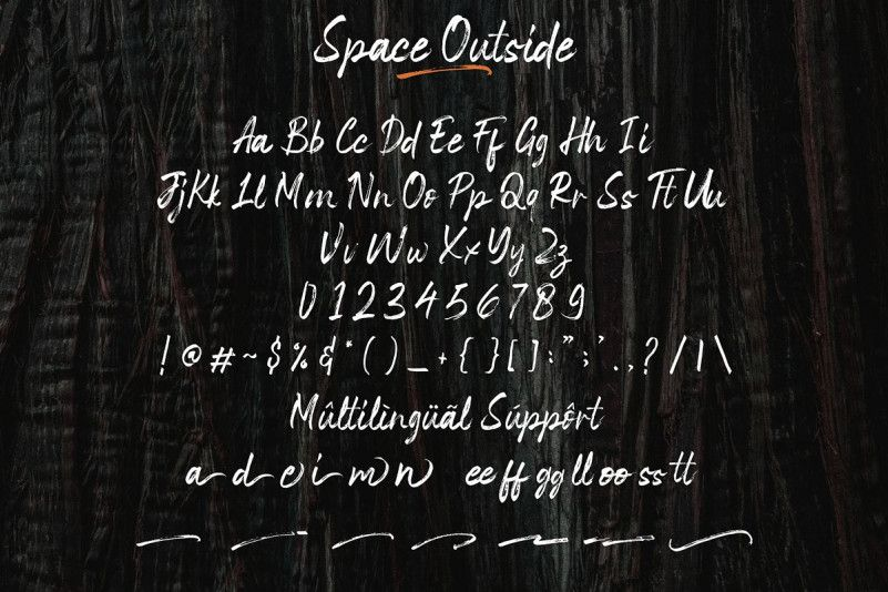 Space Outside Brush Font-3