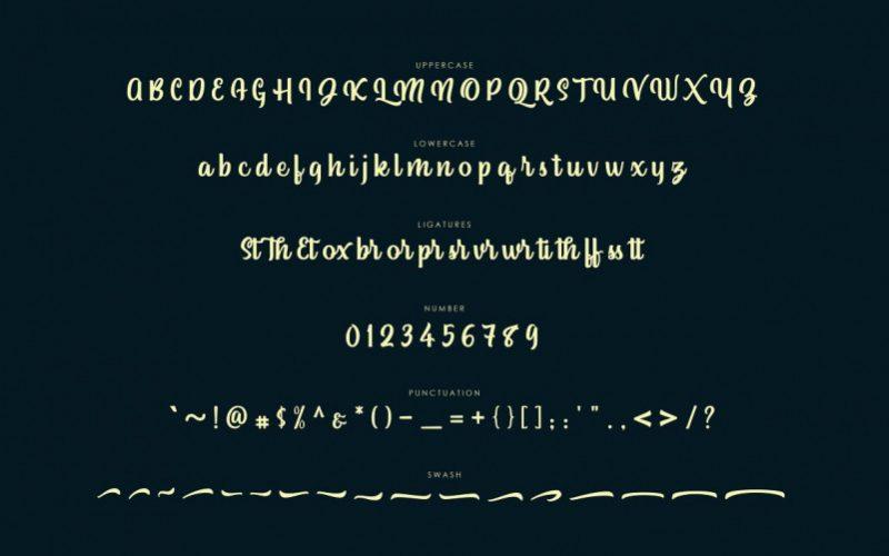Standley Script Font-3