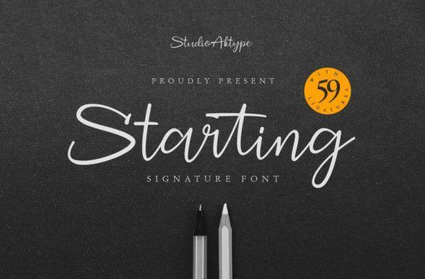 Starting Signature Font