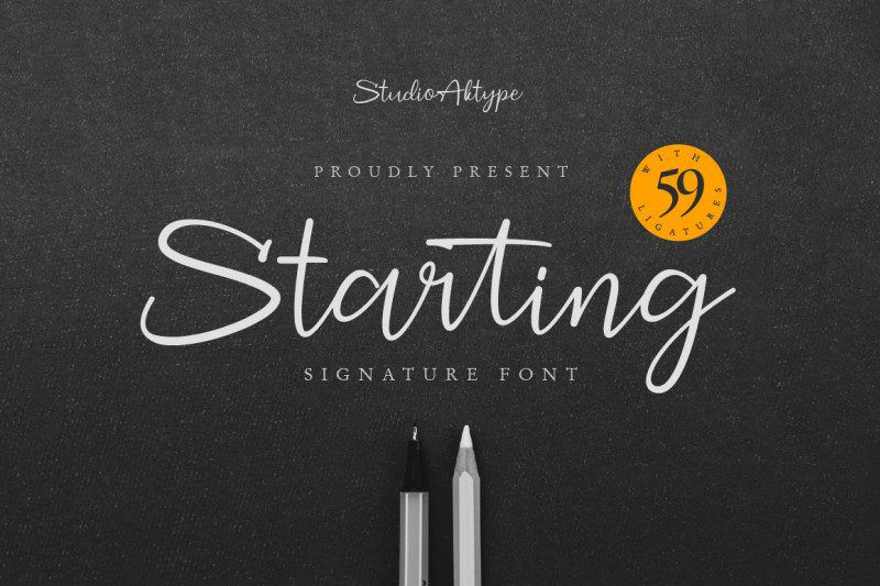 Starting Signature Font-1