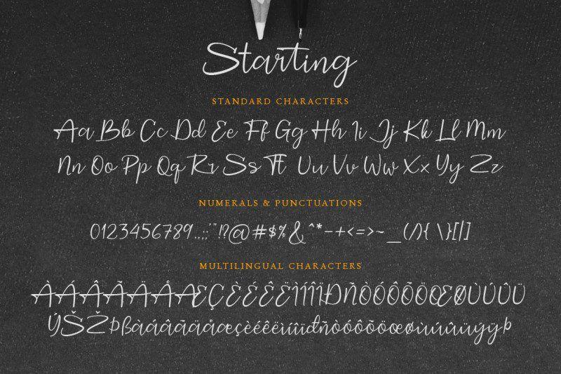 Starting Signature Font-2