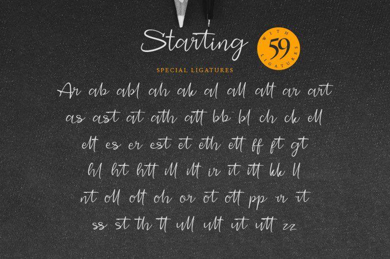 Starting Signature Font-3