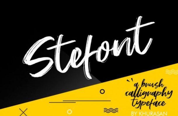 Stefont Brush Font