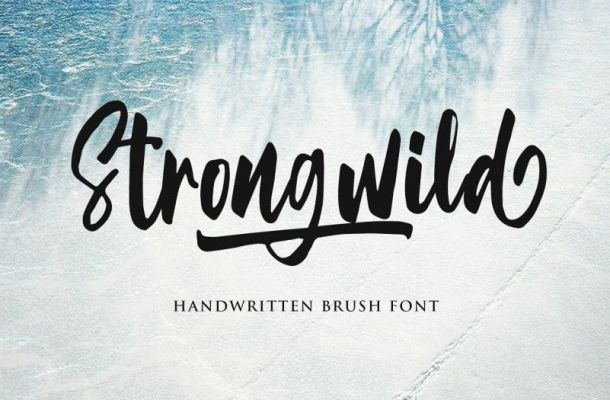Strongwild Brush Font
