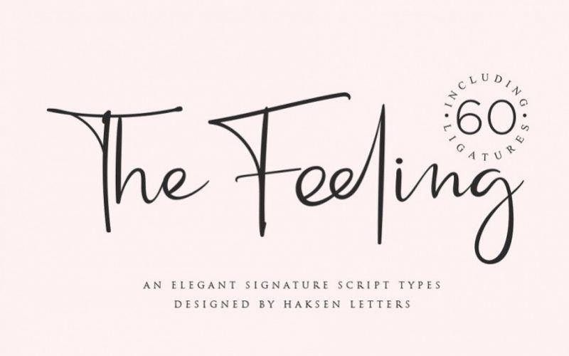 The Feeling Handwritten Font-1