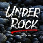 Under Rock Brush Font