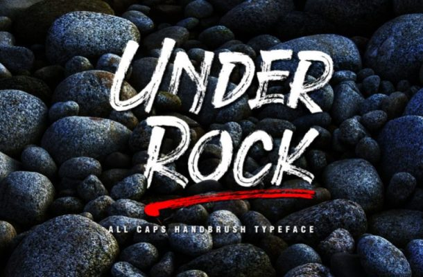 Under Rock Brush Font